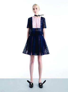 Disaya_Gingham Lace Top w Pleated Back Detail and Lace Pleated Skirt