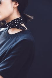 chriselle polka dotted scarf