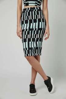 Topshop- Block Print Tube Skirt