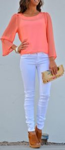 white jeans-wedges
