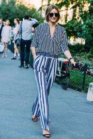 Olivia Palermo -stripe on stripe