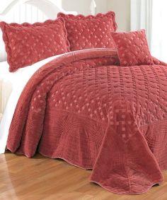 Dusty Cedar Tatami Quilted Four-Piece Bedding Set