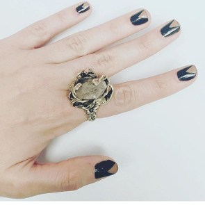 Herkimen Stone Grip ring
