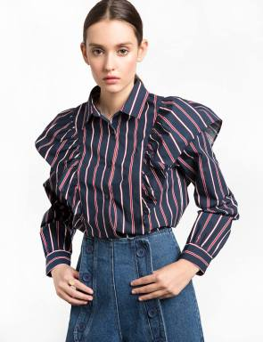 navy-and-red-striped-ruffled-shirt