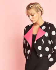 polka-dot-felted-wool-cropped-biker-jacket-with-hot-pink-lapels