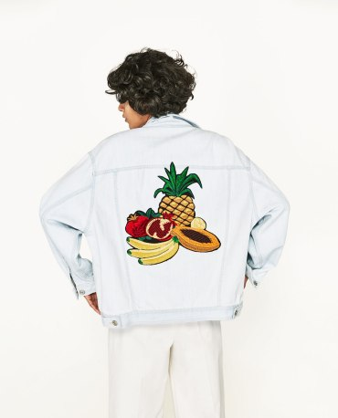 DENIM JACKET WITH FRUIT EMBROIDERY-2