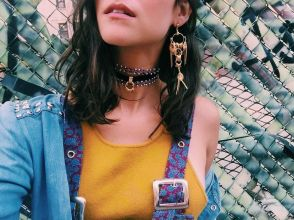 Goldie Choker : Zaniah Earrings